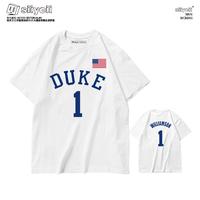 杜克大学蔡恩锡安威廉姆斯胖虎T恤球衣鹈鹕队状元1号篮球短袖女潮
