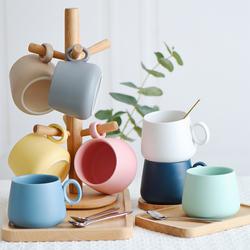 北欧陶瓷水杯子套装家用马克杯欧式小奢华杯具300ml马卡龙咖啡杯