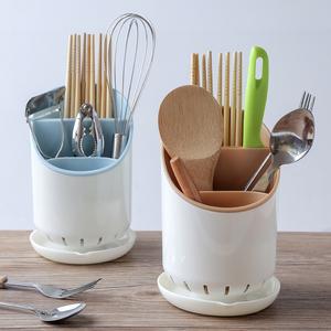 家用筷子架勺子置物收纳架塑料筷子筒厨房餐具创意筷托沥水筷子笼