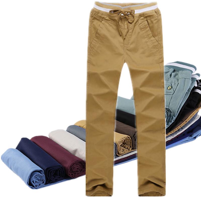 薄款男士純棉修身直筒高中學生 褲