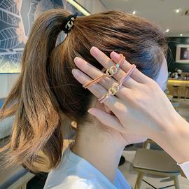 韩国网红简约气质头绳女粗扎头发绳马尾皮筋手链两用发圈头饰ins图片
