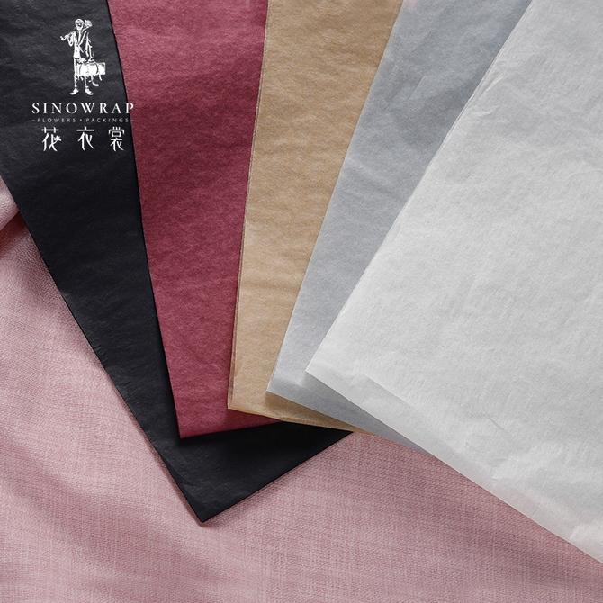 韩式 礼品纯色雪梨纸 鲜花 花束打底内衬包花纸材料花店用品 花衣裳