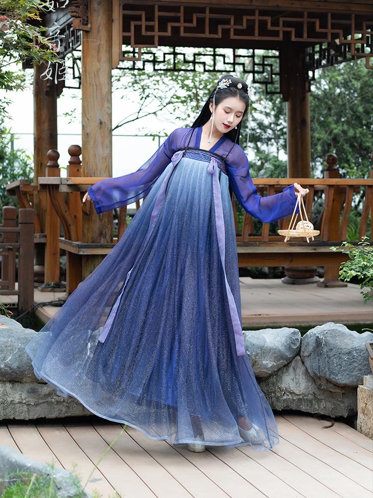古装汉服仙女夏季仙气紫色樱花齐胸襦裙六米摆超仙飘逸宋制三件套限1000张券