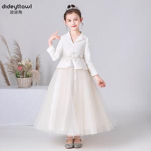 儿童公主裙女童礼服裙宴会演出服