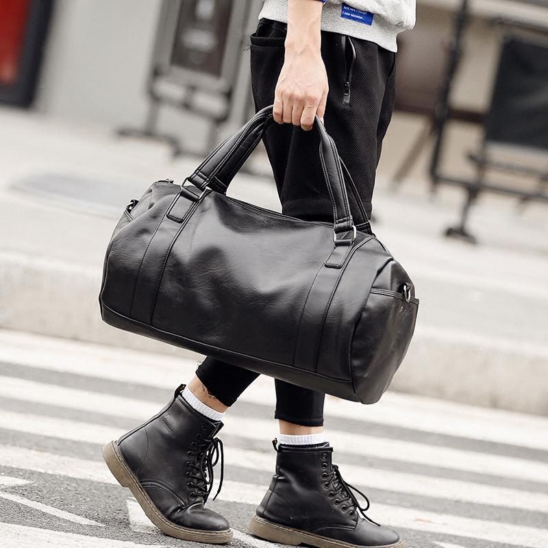 Túi thể thao dung lượng lớn túi du lịch thể dục túi xách tay túi du lịch túi hành lý đeo vai túi phiên bản Hàn Quốc của túi Messenger - Túi du lịch