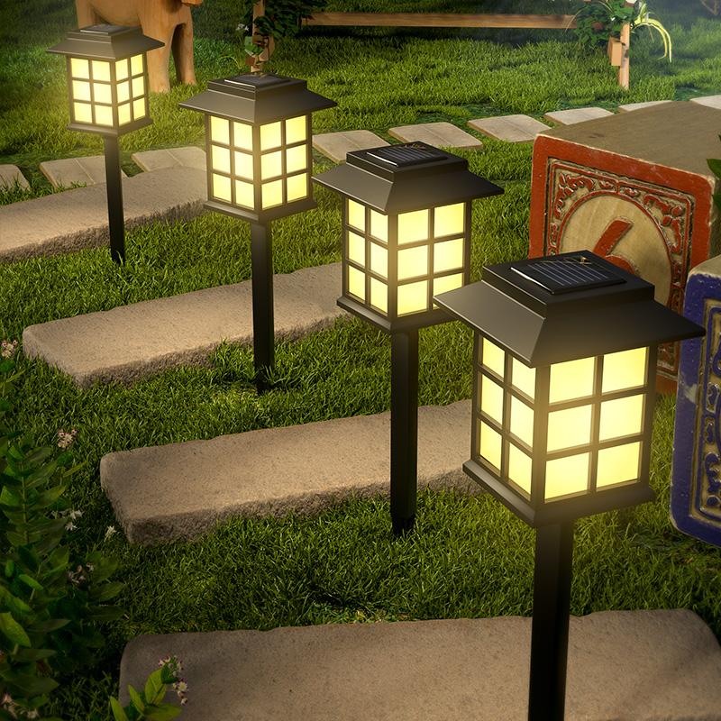 太阳能户外草坪灯庭院花园装饰家用别墅防水小夜灯草地布置地插灯