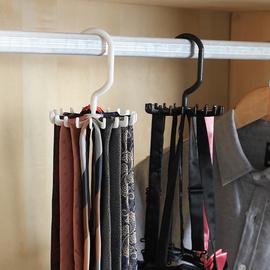 领带架多功能旋转jk领结架小物衣柜皮带丝巾挂钩收纳神器腰带架子