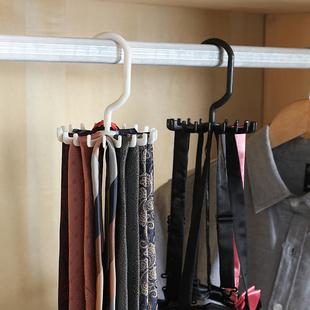 领带架多功能旋转jk领结架家用衣柜皮带丝巾围巾收纳神器腰带架子