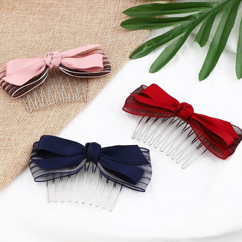 发梳发卡头饰韩国发夹百搭防滑插梳刘海梳顶夹发饰品盘发器刘海夹