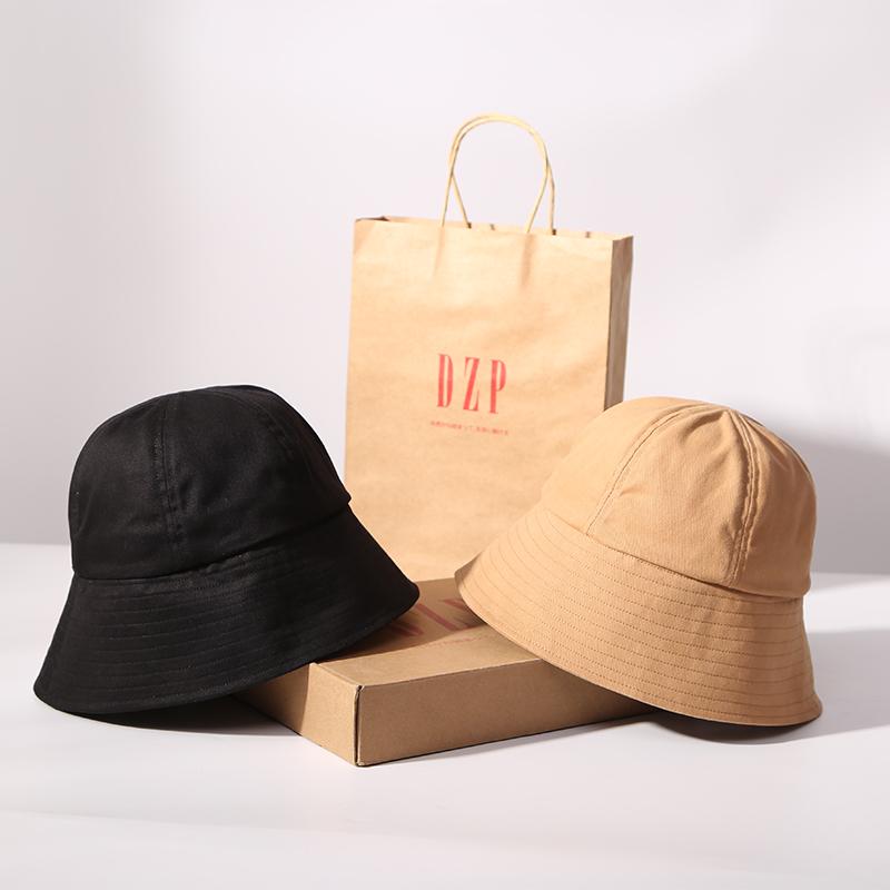 (用159元券)日本DZP网红遮脸大帽檐适合圆脸的渔夫帽子 秋冬季遮阳圆顶盆帽女