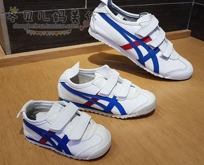 亚瑟士鬼冢虎童鞋Onitsuka Tiger魔术贴男女童运动鞋经典款亲子鞋