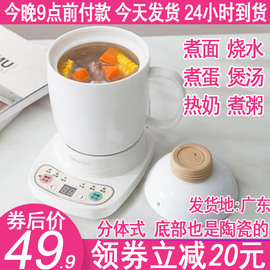 迷你多功能办公室养生电炖电热全自动煮粥杯牛奶小型加热水杯1人2