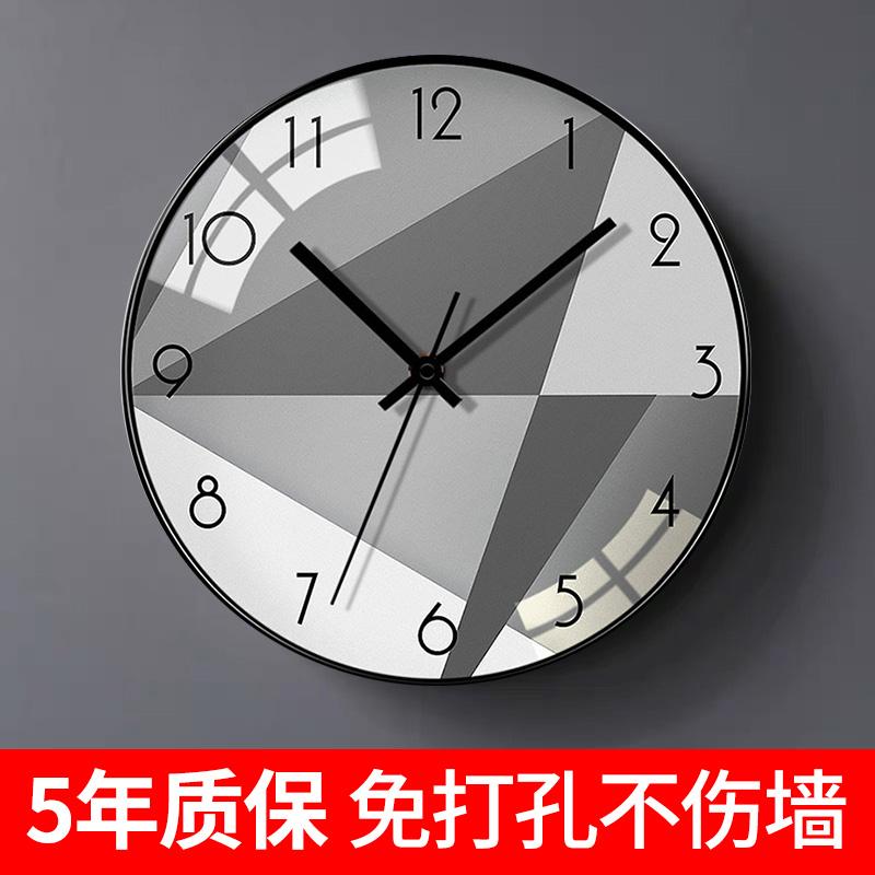轻奢北欧简约家用现代客厅卧室时尚创意个性静音石英钟装饰挂钟表