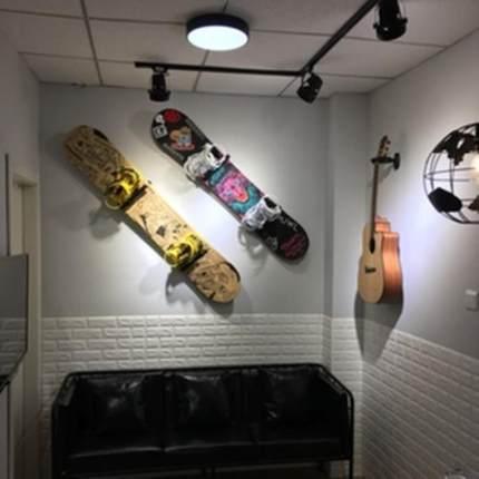 壁挂省空间落地式滑板架挂雪板坚固滑雪板存放架可调节滑雪场专用