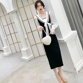晚礼服女平时可穿宴会气质修身法式长袖日常小礼服名媛生日连衣裙