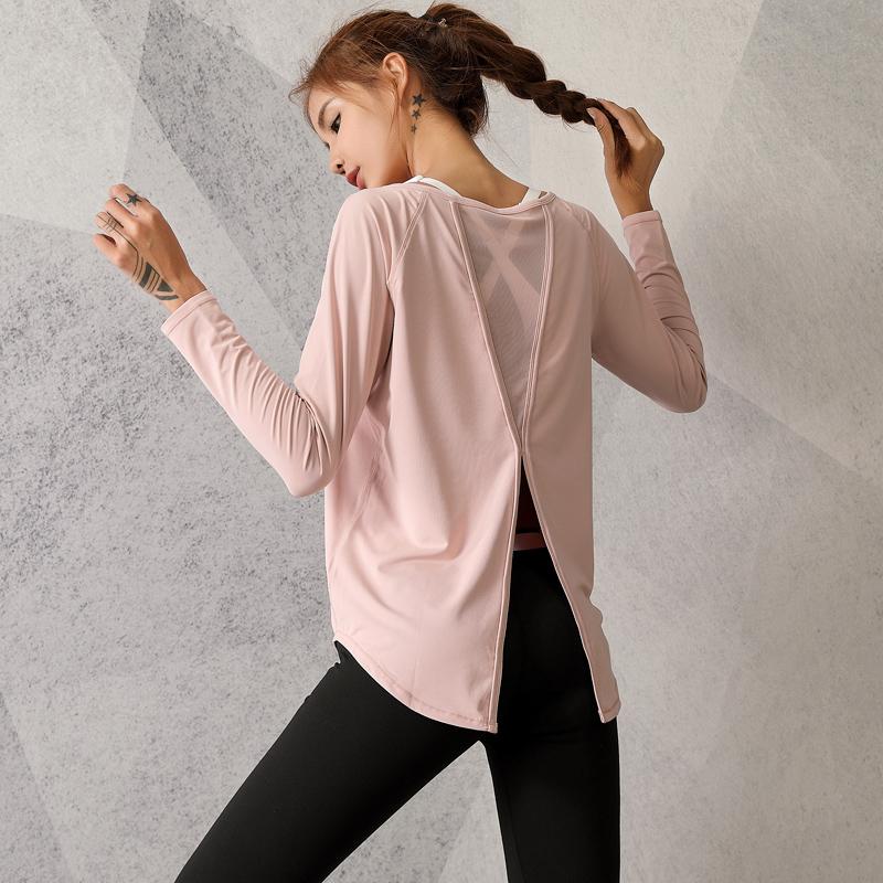 2021款宽松瑜伽服女套装短袖速干大码T恤罩衫跑步运动健身裤上衣
