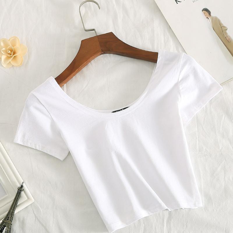 纯色打底短袖t恤女测评怎么样好吗