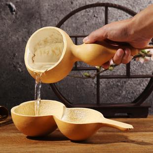 天然葫芦瓢盛水舀面勺水瓢绿色原生态干果容器五谷收纳木瓢茶道具