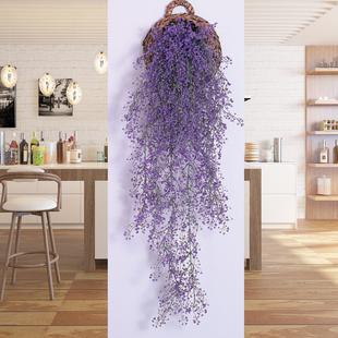 仿真金钟柳客厅墙面装 饰室内绿植壁挂花藤垂吊藤条植物假花藤蔓