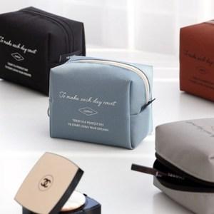 韩国进口iconic简约立体方形便携耐脏口红唇膏包旅行化妆收纳包SM