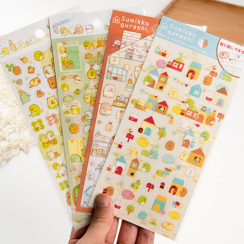 第二季角落动物透明DIY贴纸 PVC日记贴纸 手帐贴 4款可选