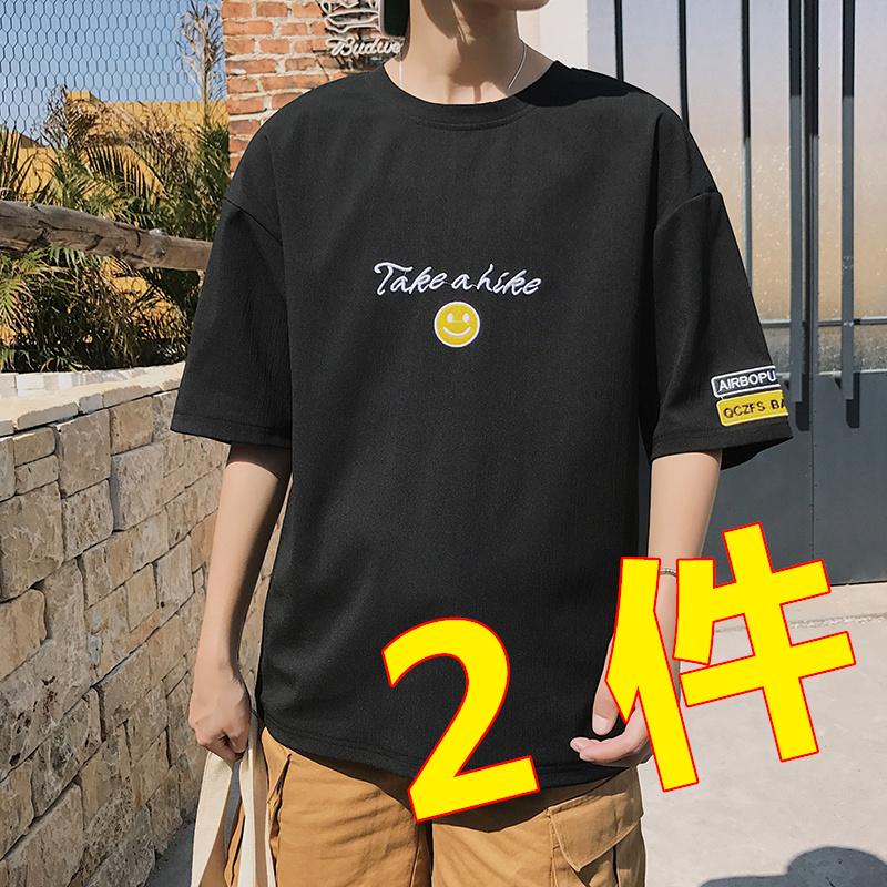 夏季新款短袖男士韩版潮流体恤t恤热销9件正品保证