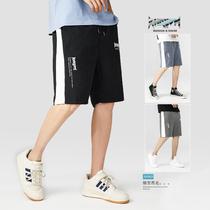 短裤男潮牌裤子夏季外穿男士潮流百搭沙滩工装休闲宽松运动五分裤