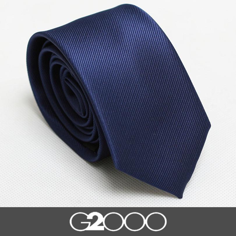 男士领带 男商务正装真丝韩版窄款6cm深蓝色结婚领带包邮女