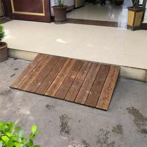 防腐木斜坡地板定制无障碍实木板门前学步坡道三角垫台阶门槛垫板