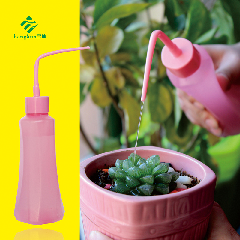 Hengkun multi meat kettle candy color beaker small nozzle kettle squeeze type kettle horticultural plant potted tools