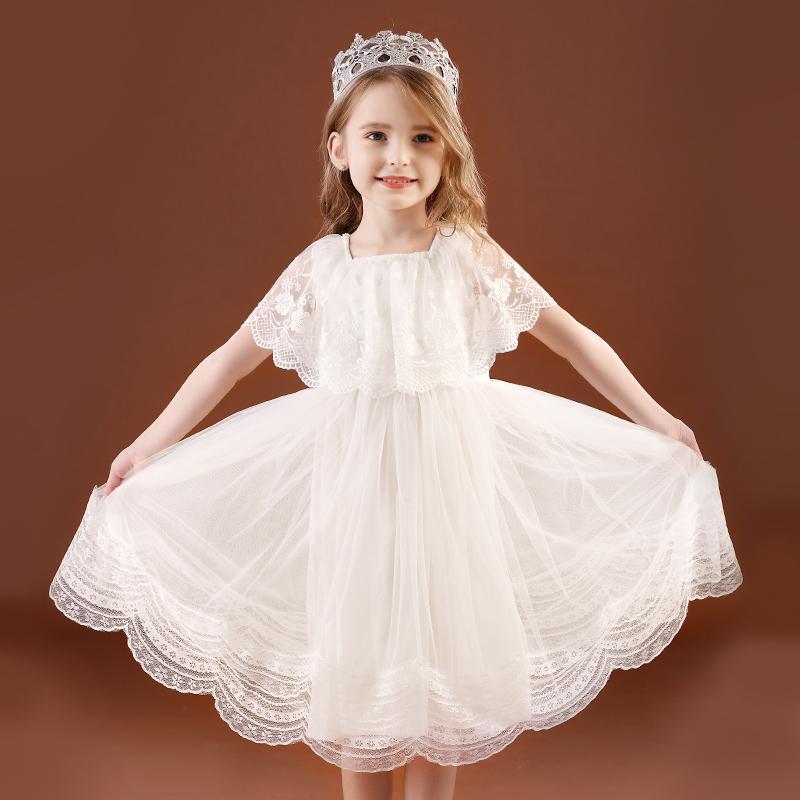 女童连衣裙公主裙夏装2021新款儿童裙子韩版白色蓬蓬纱裙洋气礼服