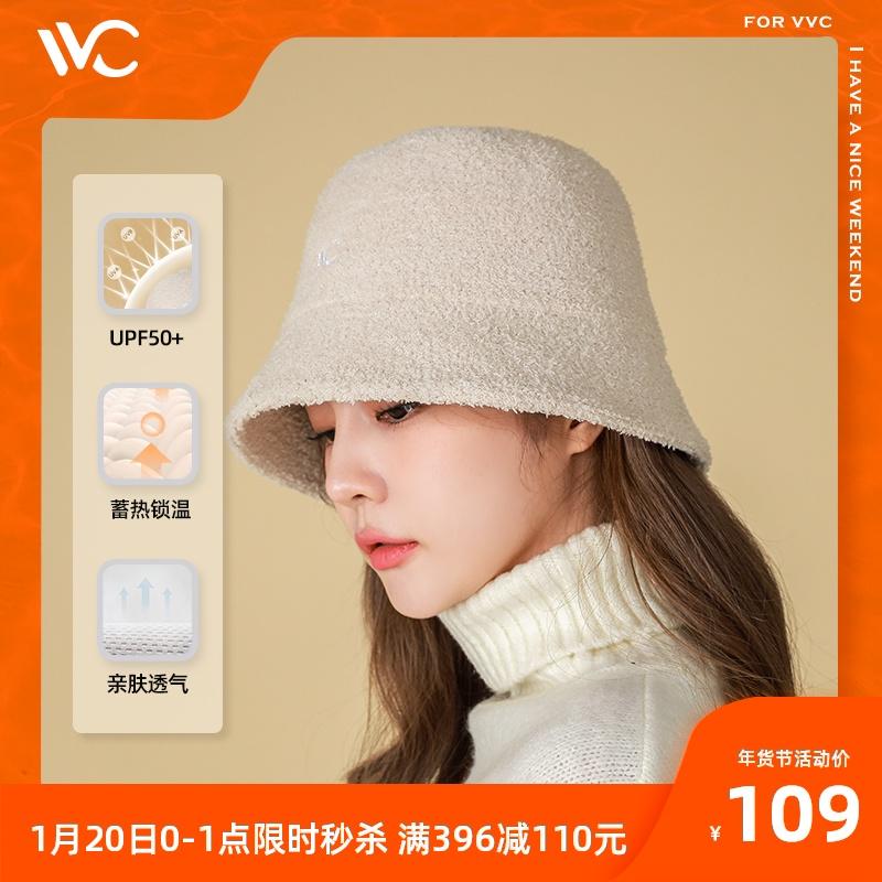 VVC渔夫帽女秋冬保暖大头围帽子时尚百搭防晒显脸小骑车盆帽韩版