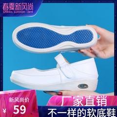 giày y tá đệm nữ khử mùi thở mềm đáy phụ nữ mùa hè mới giày thoải mái không trượt phẳng dép rỗng