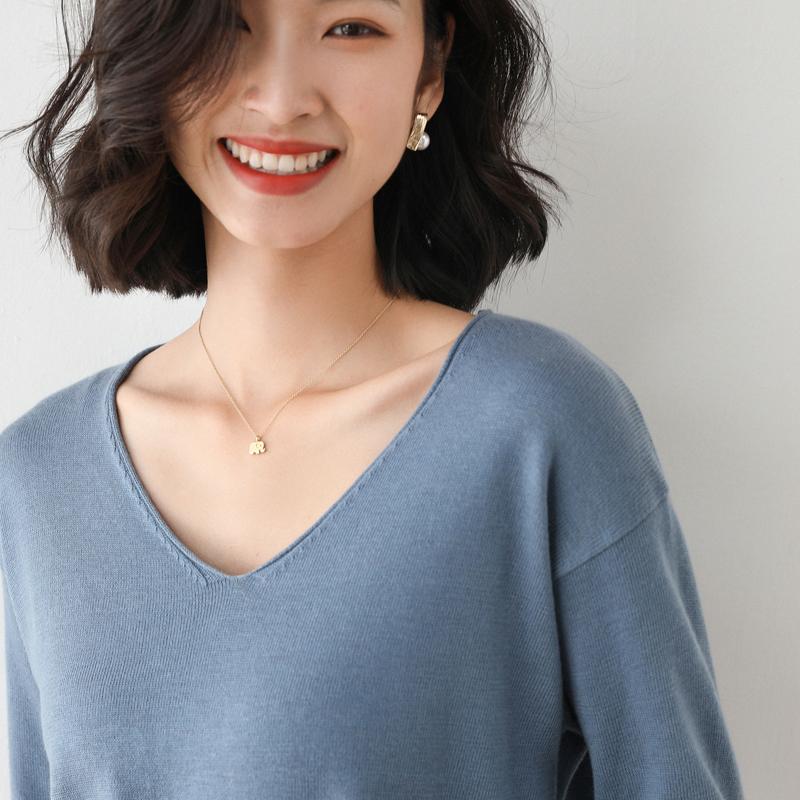 【品牌清仓】第二件0元v领衣针织衫
