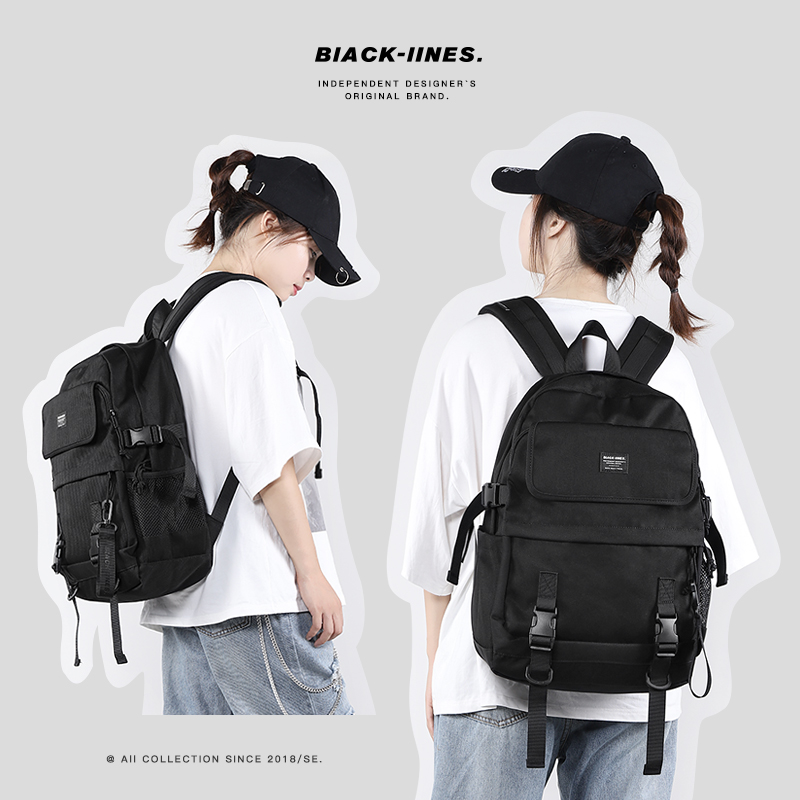 2020 new fashion backpack female Korean junior high school students computer schoolbag male large capacity Backpack