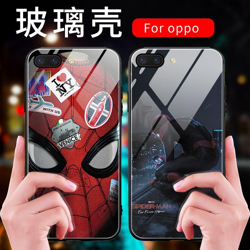 漫威oppoa17手机壳r15蜘蛛侠r11英雄远征r9splus海报reno1012-02新券