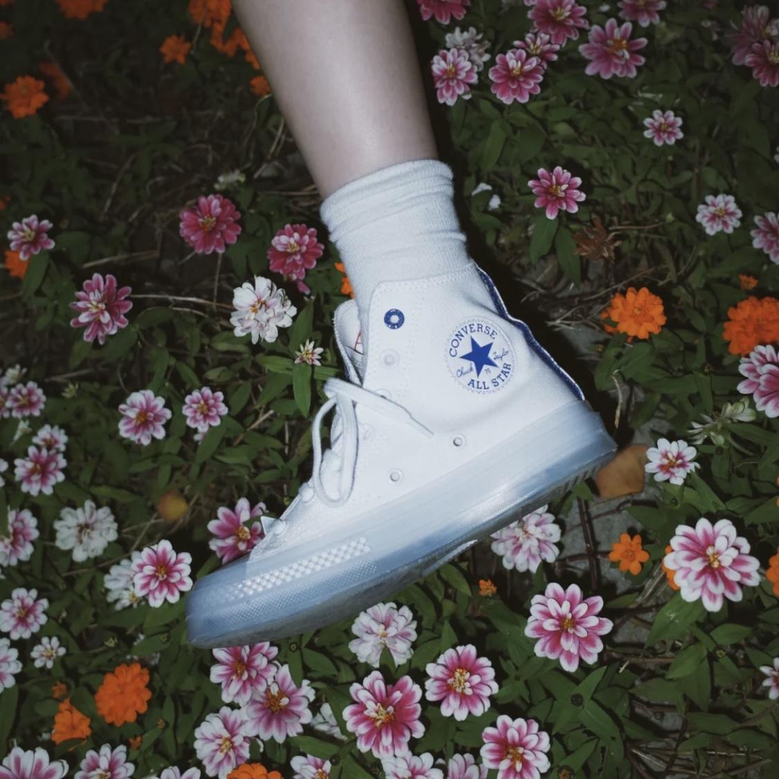 匡威1970s新款青花瓷方巾张艺兴联名高帮帆布鞋水晶果冻底170624c