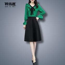早秋款连衣裙2020年新款秋高端大码女装洋气遮肚减龄裙子显瘦遮肉