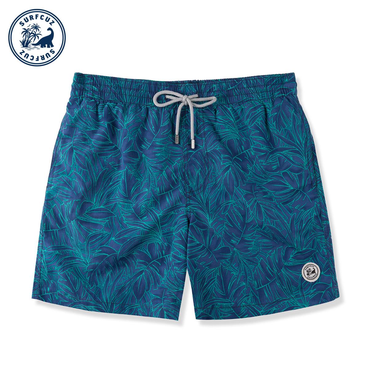 surfcuz 温泉男士泳裤速干宽松大码可下水沙滩裤男士泳裤温泉度假