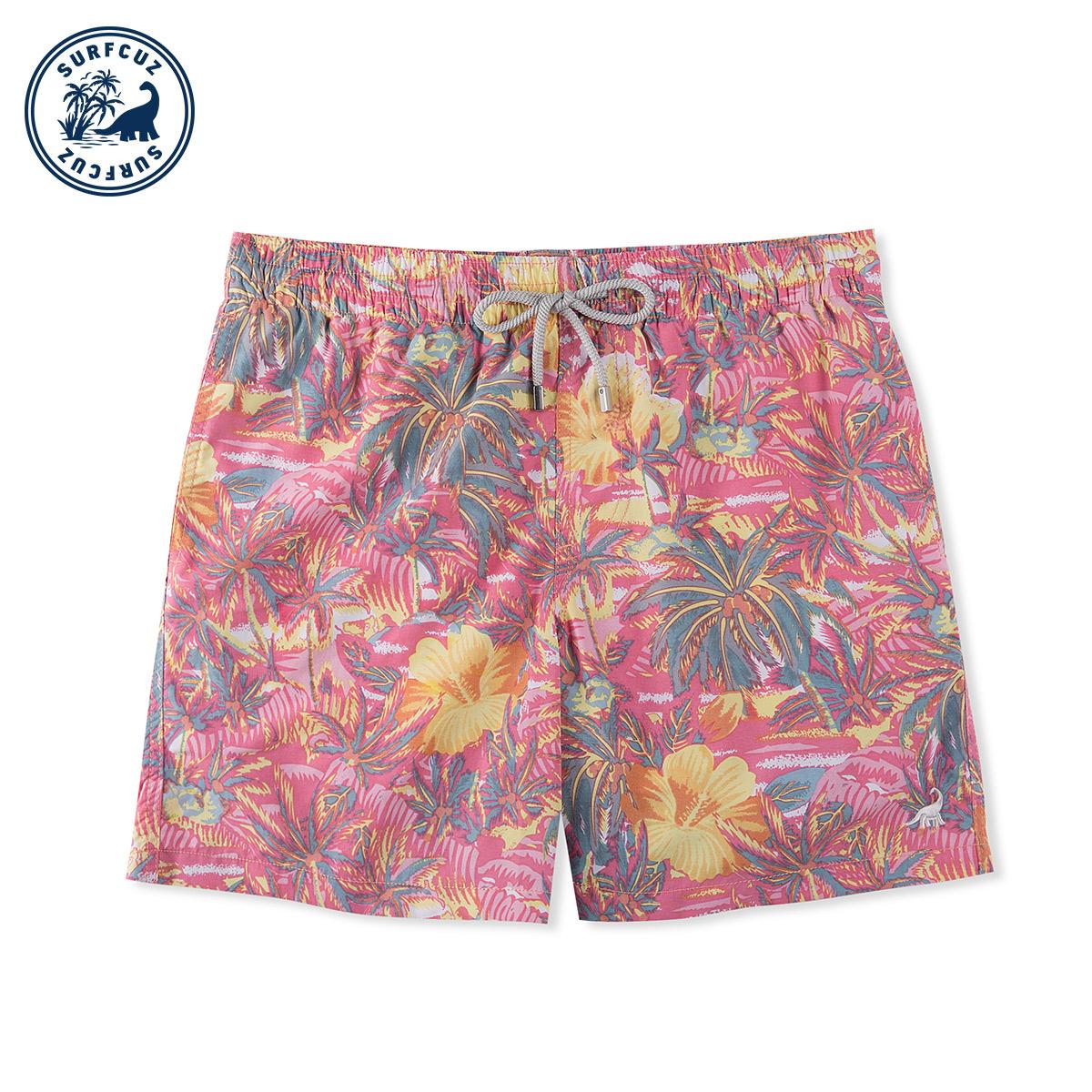 沙滩裤男潮牌速干宽松情侣装花泳裤热销247件五折促销