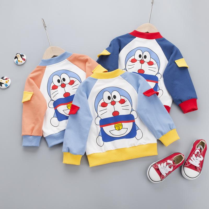 婴儿外套春秋男女童上衣纯棉衣服卡通男宝宝春装女小童开衫薄洋气图片