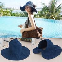 Солнцезащитная шляпа солнцезащитный крем лето шапка Маска для лица со складыванием Пустая верхняя шляпа дикого солнца