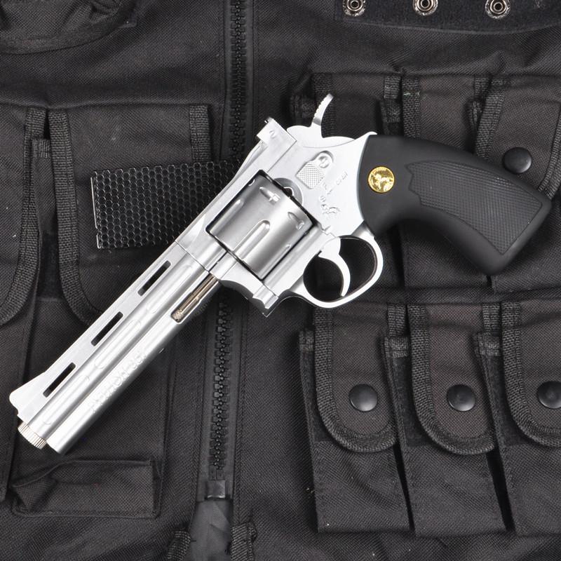 限2000张券小月亮左轮水弹枪手抢抛壳手动可发射男孩吃鸡儿童玩具枪模型高配