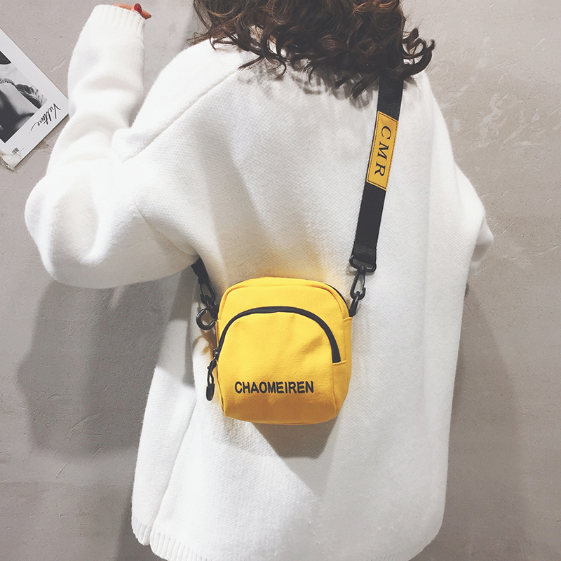 网红质感小包包女包新款2021夏季洋气帆布包女迷你百搭单肩斜挎包