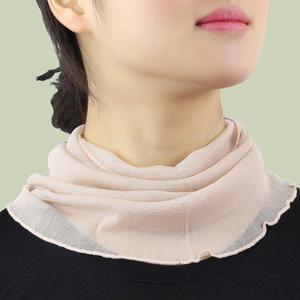 真丝夏天护脖子的围巾桑蚕丝女士薄款纱巾夏季百搭防晒丝巾围脖套