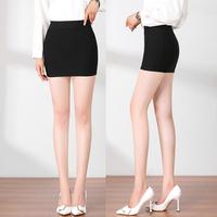 查看黑色职业包臀裙女高腰短裙工装工作半身裙弹力一步裙矮小个子包裙价格