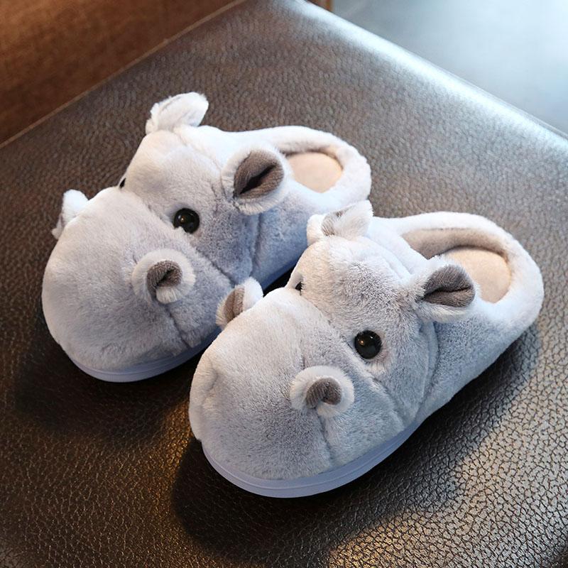 儿童棉拖鞋冬男女童拖鞋亲子小孩防滑棉拖鞋室内家居可爱一家三口
