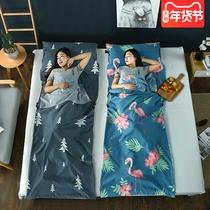 QUNC迪卡侬户外露营大人睡袋旅行棉儿童睡袋单人室内午休羽绒隔脏
