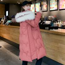 棉袄2019年新款反季棉衣棉服女中长款棉袄韩版宽松加厚冬季外套潮