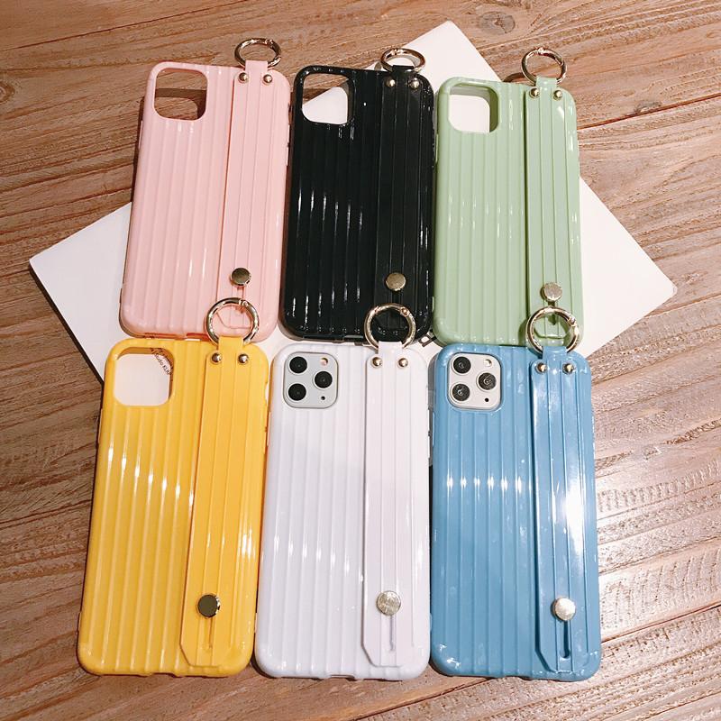 手腕带行李箱纯色OPPOR17手机壳简约RENO2抹茶绿R15X支架r11s全包热销2件假一赔三